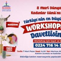 Bursalı kadınlar workshopla normalleşiyor