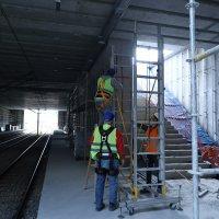 Yeni istasyonda çalışmalar hızlandı