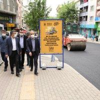 Başkan Aktaş'tan Profesör Tezok Caddesi'nde inceleme